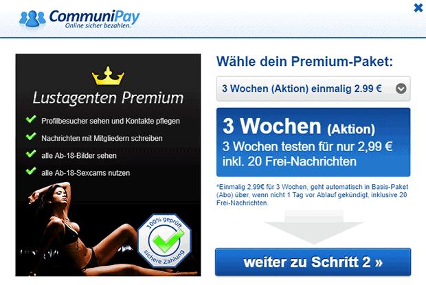 Lustagenten Premium-Paket Kosten