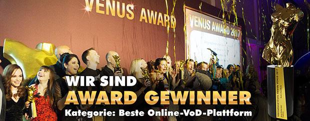 Venus Award Beste VoD Plattform